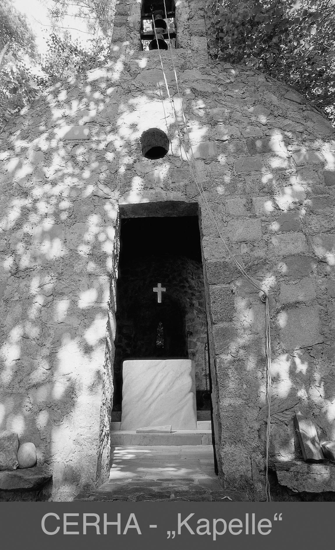 In Maria Langegg  Haus-Kapelle und Altar aus Stein errichtet von Friedrich Cerha